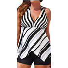 Womens Tankini Sets with Boy Shorts Ladies Swimming Costumes Two Piece Swimsuits