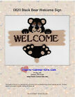 Black Bear Welcome Sign- Plastic Canvas Pattern or Kit