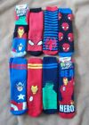 Boys Slipper Socks - SPIDERMAN / AVENGERS - Child Sizes 12/3 -  New