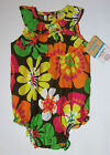 NWT: New Carter's Multi-Color Floral Creeper Romper Outfit, 6mo, Rtl $18