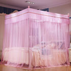 white bed netting canopy anti-mosquito bed curtain mosquito net with frames new