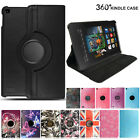 For Amazon Kindle Fire 7 8 2017 Luxury Magnetic Leather Stand 360 Rotating Cover