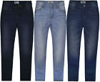 Girls New Plain Denim Jeans Kids Slim Stretch Pants Casual Trousers Age 2-9 Yrs