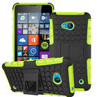 For Nokia Lumia 640 640XL Heavy Hybrid Rubber Rugged Bumper Stand Case Cover