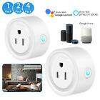 Mini Wifi Smart Plug Outlet Socket Work with Alexa Google Home Remote Control