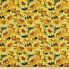 "FABRI-QUILT ""HARVEST MASTER"" 112-30861 FALL AUTUMN SUNFLOWERS FABRIC SELECT SIZE"