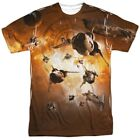 Authentic Battlestar Galactica TV Show Viper Dog Fight Allover Front T-shirt top