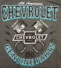 Men's Chevrolet Genuine Parts T-Shirt Charged Up Pistons Logo Vintage Chevy Car image