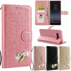 Bling Diamond Magnetic Wallet Leather Case Cover for Samsung Galaxy Note 8 S8 S7