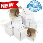 White Die Cut Folding Lid Postal Cardboard PIP Boxes Small Parcel 12x10x4'