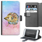 HAIRYWORM WATERCOLOUR HEDGEHOG ANIMAL LEATHER WALLET PHONE CASE, FLIP CASE