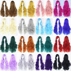 Women Fashion Lady Anime Long Curly Wavy Hair Party Cosplay Full Wig 80CM