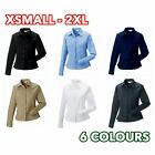 3 5 10 Pack Womens Ladies long sleeve classic twill shirt formal casual lot
