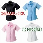 3 5 10 Pack Womens Ladies short sleeve ultimate non-iron shirt formal casual lot