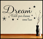 FAMILY CHILDREN WALL ART STICKER QUOTE DREAM PHRASE WORDS SAYINGS HOME DECOR DIY