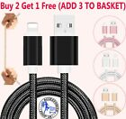 Heavy Duty Metal Braided Lightning USB Charger Cable 1M 2M For iPhone X 8 7 6 5