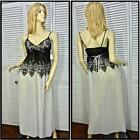 NWT $68 IN BLOOM by JONQUIL NIGHTGOWN MEDIUM/LARGE/X-LARGE Black & White