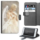 HAIRYWORM FANTASY ANGEL FAIRY LEATHER WALLET PHONE CASE, FLIP CASE, PHONE COVER