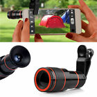 12X Zoom Optical Clip-on HD Telescope Phone Camera Lens For iPhone & Samsung New