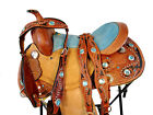 BLUE RHINESTONE SHOW KIDS YOUTH CHILD PONY BARREL RACING WESTERN SADDLE 12 13