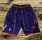 Toronto Raptors Purple Stitched Sewn Basketball Shorts NWT