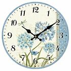 14 Wall Clock Large Arabic Numerals Colourful Decor Home Office Kitchen Wooden