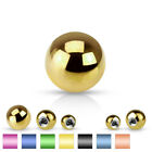 Body Jewelry Replacement Parts - 10pk Titanium Plated Steel Threaded Balls image