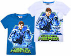 Boys New Max Steel T-shirt Kids Short Sleeve 100% Cotton Disney Top Ages 4-5 Yrs