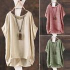 Fashion ZANZEA Women Summer Batwing Short Sleeve Blouse Casual Loose Tops Shirts