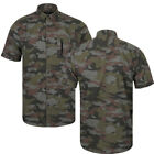 Dissident Mens Bryce Designer Short Sleeved Camo Print New Casual Summer Shirt