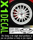 Centre Wheel Decal sticker for OZ Racing stud spacing 100-108 PCD 10 Colours x1