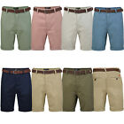 Broken Standard Mens Basic Belted Chino Shorts With Free Belt Pure Cotton Pants
