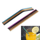 1XStainless Steel Straw straight/bend Straw kitchen Outdoor camping drinking UK