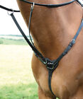 Shires Salisbury Three Point Breastplate PONY COB FULL **BLACK OR BROWN**