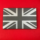 NEW UNION JACK GREY & WHITE REFLECTIVE MONO IR STYLE VELCRO® BRAND PATCH UK,IFF