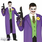 Adults Mens Assassin Jester Joker Killer Villain Halloween Fancy Dress Costume