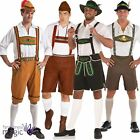 Adults Mens Oktoberfest Bavarian German Lederhosen Fancy Dress Outfit Costume