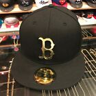 New Era Boston Red Sox Fitted Hat BLACK/GOLD Metal Badge on Ebay