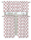 Regal Home Collections Shabby Trellis Kitchen Curtain Set - Assorted Colors