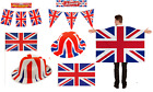 Union Jack Hats & Flags Bunting Hat Flag Football Sport (6/12/18/24)
