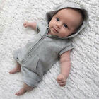 Summer Baby Kids Boy Girl Infant Hooded Romper Jumpsuit Bodysuit Clothes Outfit