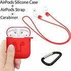 Multi Accessories Kits Protective Silicone Case Cover Strap For Apple AirPods