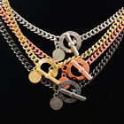HOT MARC BY MARC JACOBS 4 COLORS CLASSIC HOLLOW LETTERS LOCK NECKLACE #N629X image