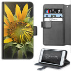 YELLOW SUNFLOWER PHONE CASE, LEATHER WALLET FLIP CASE, COVER FOR SAMSUNG, APPLE