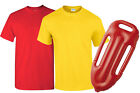 LIFEGUARD SET WOMENS MENS RED YELLOW TOP AND FLOAT FANCY DRESS COSTUME