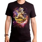 New Awesome Cat dancing on taco in Space adult soft T-shirt top S M L XL 2XL