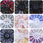 Nail Glitter Rhinestone Studs 3D Nail Art Decoration in Wheel Manicure DIY