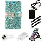 For ZTE Sequoia Blade Z Max Z982 Wallet Case Diamond LUXURY With Holder Combo
