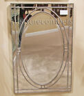 Venetian Style Beaded Rectangular Wall Mirror Large 44""