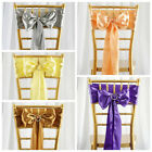 200 Cheap Satin Chairwoman SASHES Bows Ties Wedding Reception Decorations Wholesale